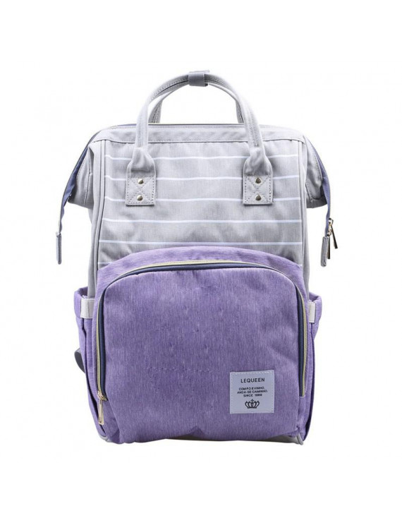 Multi-functional Large Capacity Waterproof Baby Diaper Backpack Maternity,Purple