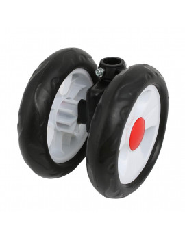 140mm Diameter Plastic Double Wheel  Swivel Pulley Roller for 19mm Tube