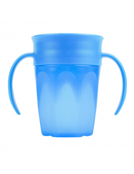 Dr. Brown's Cheers 360 Spoutless Training Cup, 6m+, 7 Ounce, Blue