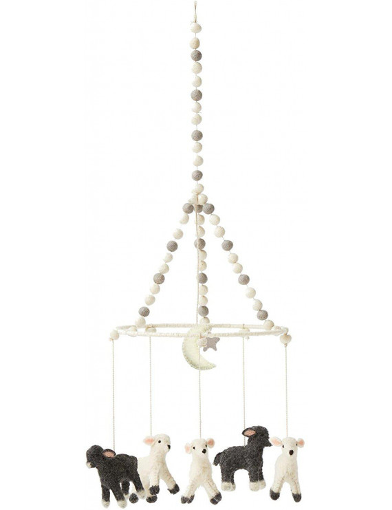 Pehr Designs Little Lamb Mobile, Light Grey