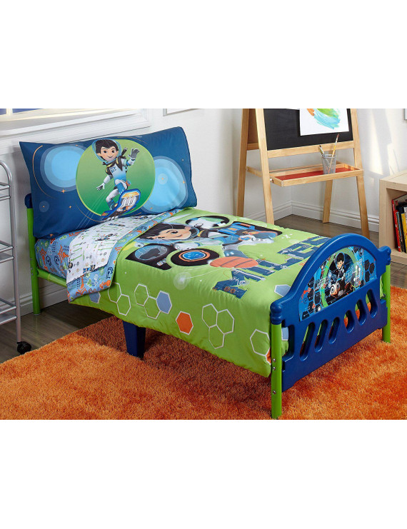 Disney 4 Piece Toddler Bedding Set, Miles From Tomorrow Land