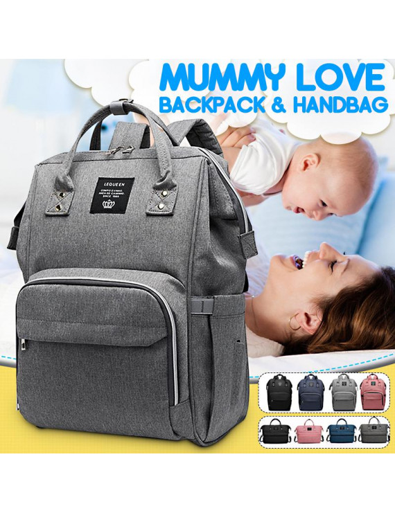 Waterproof Baby Diaper Bag Mummy Maternity Nappy Travel Handbag Backpack