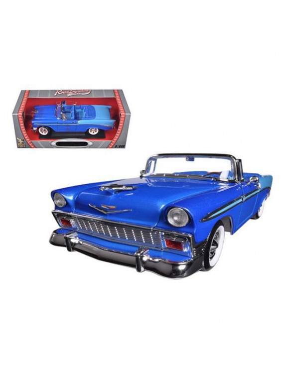 1956 Chevrolet Bel Air Convertible Blue 1-18 Diecast Car Model