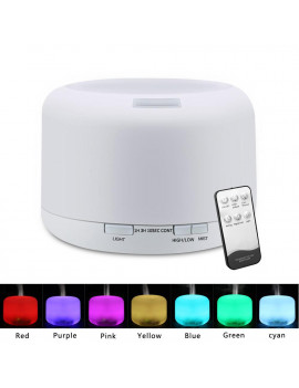 500ML Colorful Ultrasonic Aroma Humidifier/Aromatherapy Essential Oil Diffuser Cool Mist Humidifier, 4 Adjustable Mist Mode,Waterless Auto Shut-off ,  For Home, Yoga, Office, Spa, Bedroom, Baby Room
