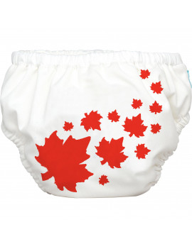Charlie Banana Extraordinary Training Pants, Maple Leaf on White