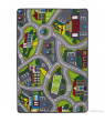 "Allstar Kids / Baby Room Area Rug. Street Map with Light Blue Vibrant Colors (3' 3"" x 4' 10"")"