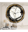 Designart 'Gold Metallic Circle' Metal Wall Clock