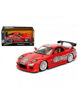 1 by 24 Doms Mazda RX-7 Fast & Furious Movie Diecast Model Car, Red
