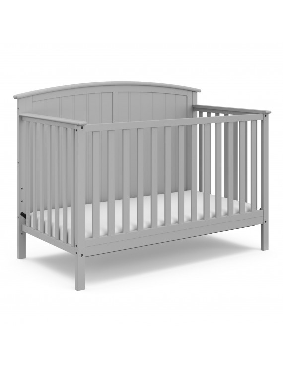 Storkcraft Steveston 4 in 1 Convertible Baby Crib, Pebble Gray