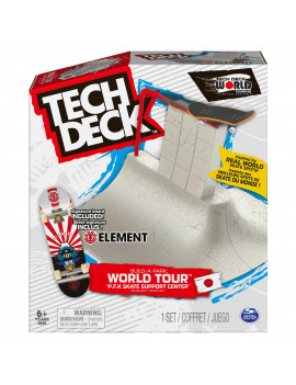 Tech Deck, Build-A-Park World Tour, P.F.K Skate Support Center, Ramp Set with Signature Fingerboard