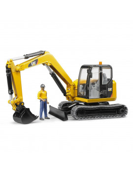 Bruder Toys Caterpillar Mini Excavator with Working Arm and Worker | 02467