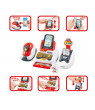 Cash Register Supermarket Set w/scanner, card box and 24 accessories