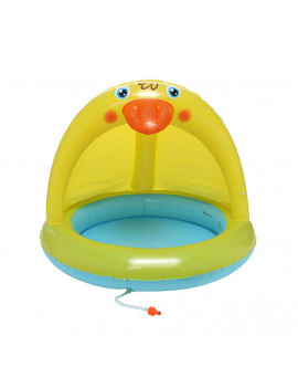 Baby Pool, Duckling Pool With Canopy, Spray Pool Of 40In, Water Sprinkler