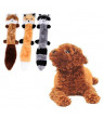 KABOER Stuffingless Dog Toys, Stuffing-Free Dog Chew Toys Set with Squirrel and Raccoon Squeaky Plush Dog Toy for Medium and Large Dogs