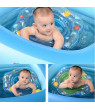 Baby Swimming Ring,Inflatable Float with Double Airbag Safety Seat,Pool Bathtub Float Infant Boys Girls Summer Pool,Training Aid PVC Pool Floats for Toddlers