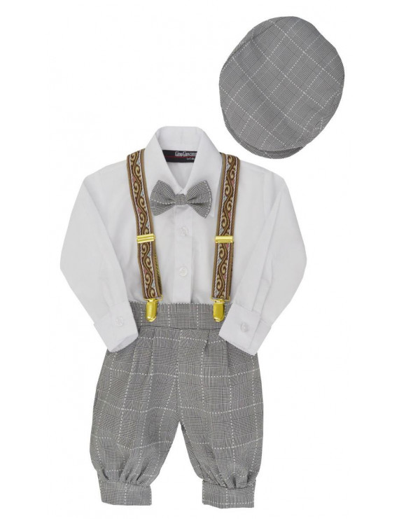 Gino Giovanni Baby Boys Vintage Knickers Outfit Suspenders Set G284