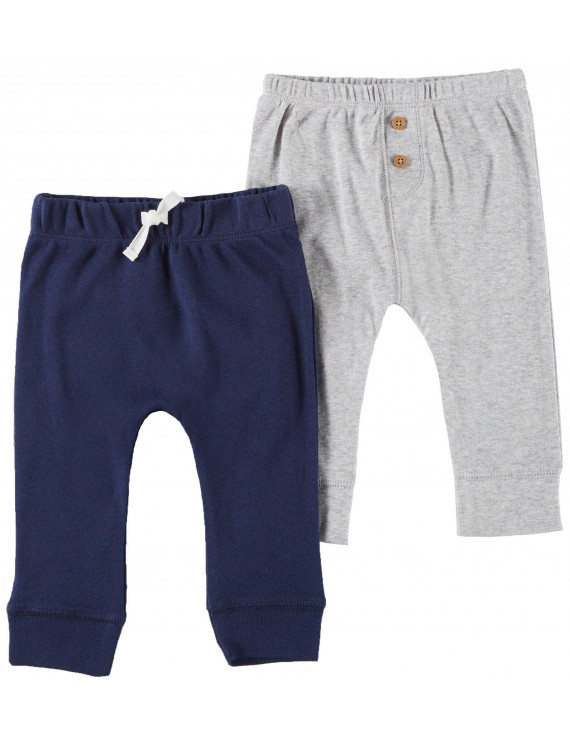 Carters Baby Boys 2-pk. Heathered & Solid Pull-On Pants