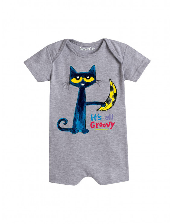Pete The Cat It's All Groovy Banana  - Infant Romper