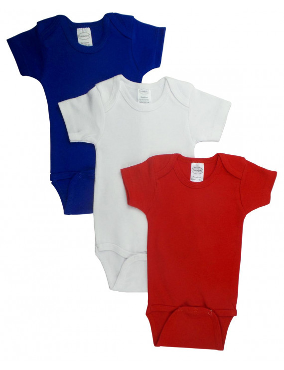 Bambini Red Bodysuit Onezies (Pack of 3)
