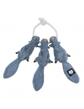 Walking Dead Daryl's Squirrels-on-a-Rope Plush Tug Toy