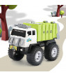 Children Alloy Car Model Diecast City Cleaning Garbage Truck Sound Light Pull Back Toys Gift with 4 Waste Recycling Bins